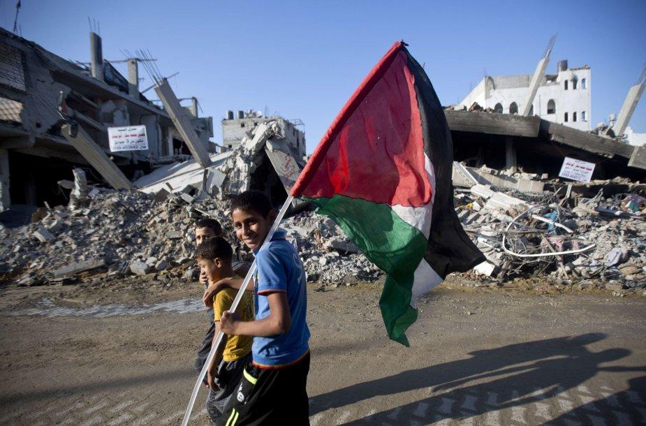 Palestinos vaikai Gazos ruože