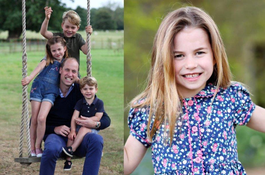 Princesė Charlotte su šeima