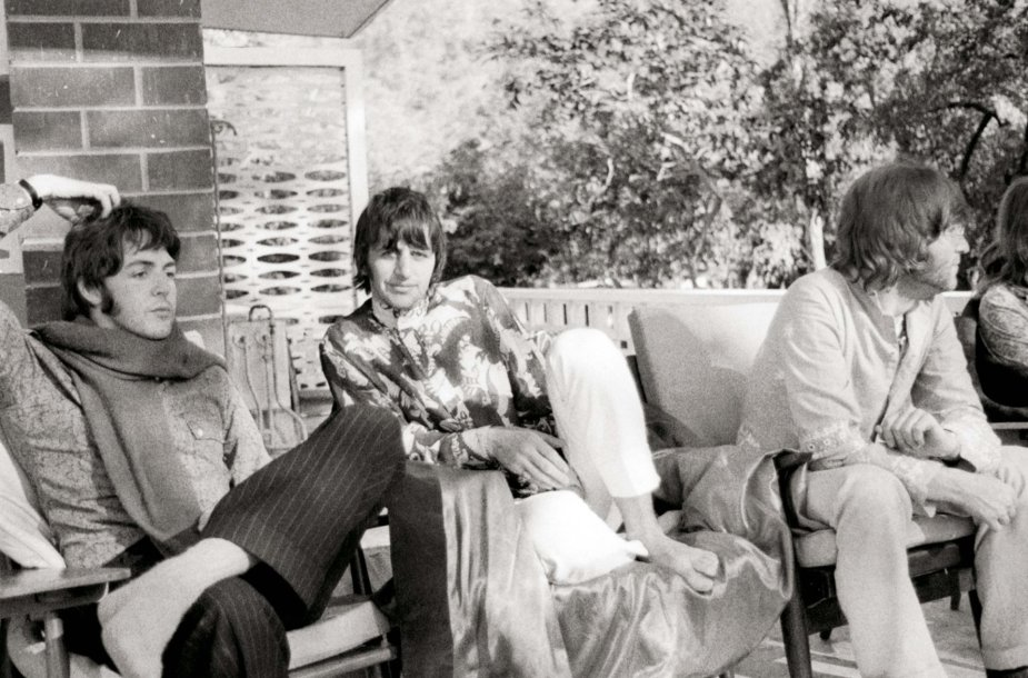 Paulas McCartney, Ringo Starras ir Johnas Lennonas Indijoje (1968 m.)