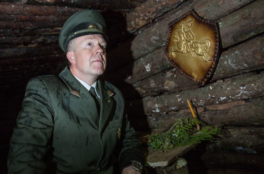 K.Markevičius sakė, kad bunkeriuose visuomet kabėjo Vytis