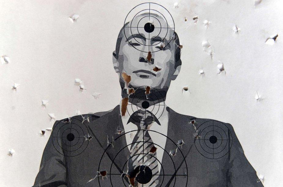 Taikinys su Rusijos prezidento Vladimiro Putino portretu