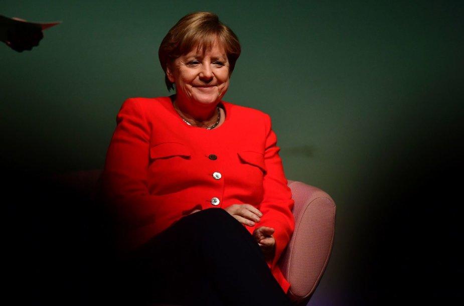Angela Merkel Gorkio teatre Berlyne
