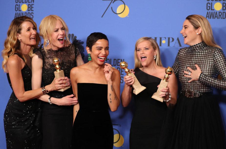 Laura Dern, Nicole Kidman, Zoe Kravitz, Reese Witherspoon ir Shailene Woodley