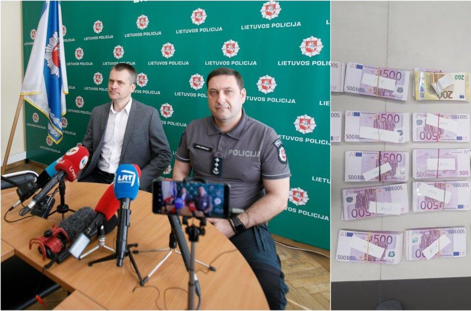 Policijos smūgis šešėliniam verslui: kratų metu pas verslininką aptikta 800 tūkst. eurų
