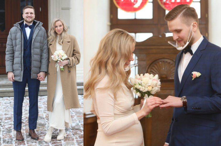 Viktorijos Pleškytės ir Justo Tamulio vestuvių akimirkos