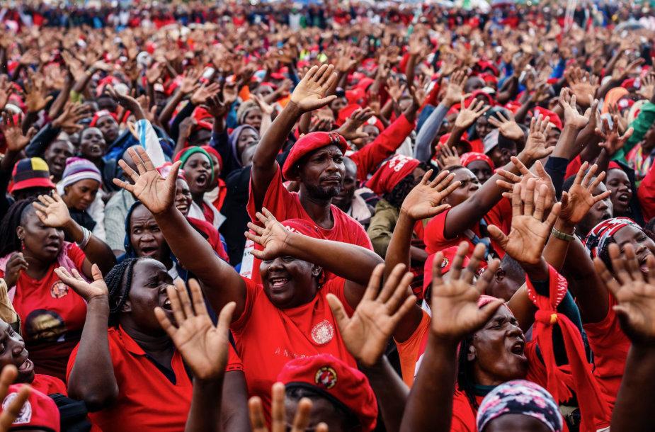 Zimbabvė atsisveikino su opozicijos didvyriu M.Tsvangirai