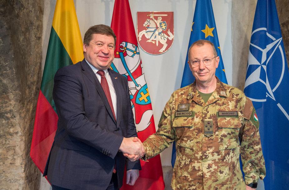 Lietuvoje lankosi naujasis NATO vadavietės Brunsume vadas