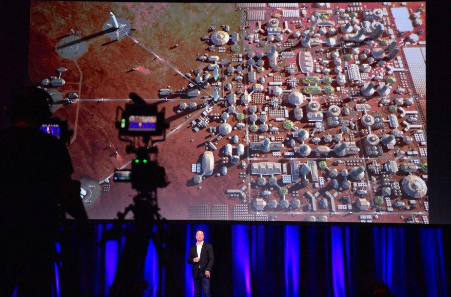 """""""SpaceX"""" pristato Marso užkariavimo planus"""
