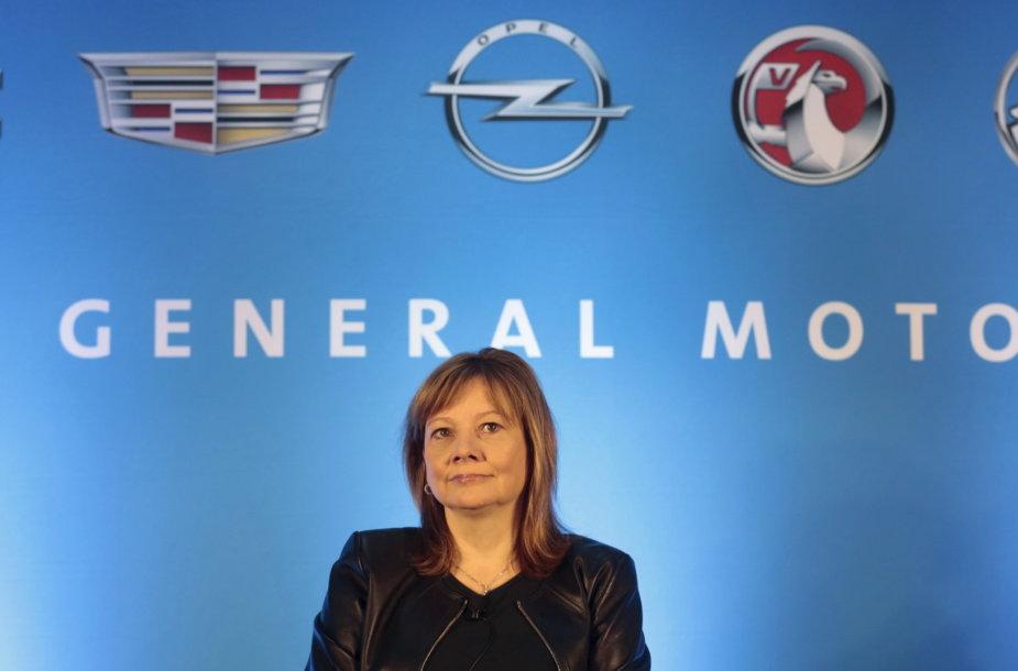 """General Motors"" direktorė Mary Barra"