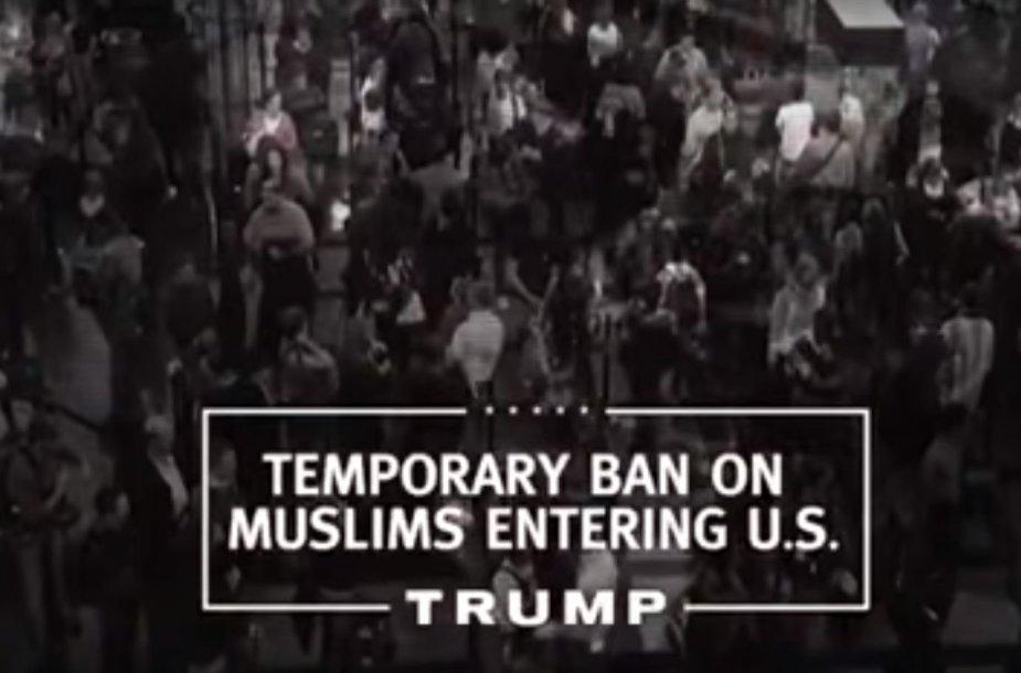 Donaldas Trumpas pristatė pirmą savo rinkiminės kampanijos vaizdo klipą
