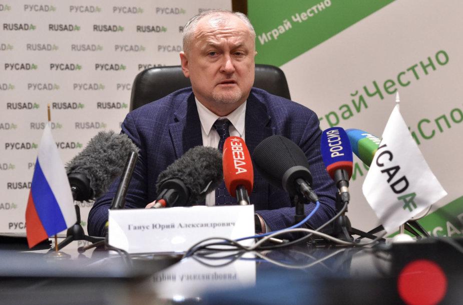 Rusijos antidopingo agentūros vadovas Jurijus Ganusas.