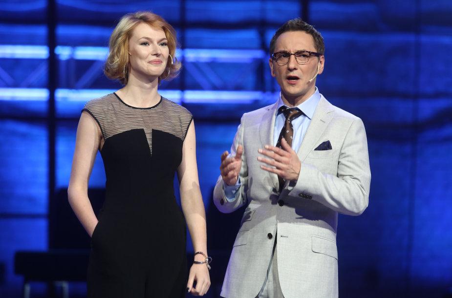 Andrius Rožickas ir Beata Tiškevič-Hasanova