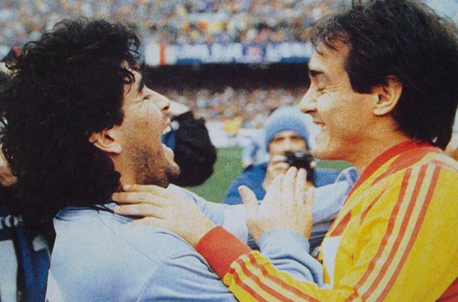 Diego Maradona ir Pedro Pasculli