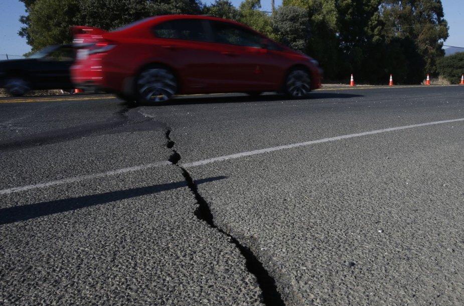 Žemės drebėjimo padariniai Kalifornijoje