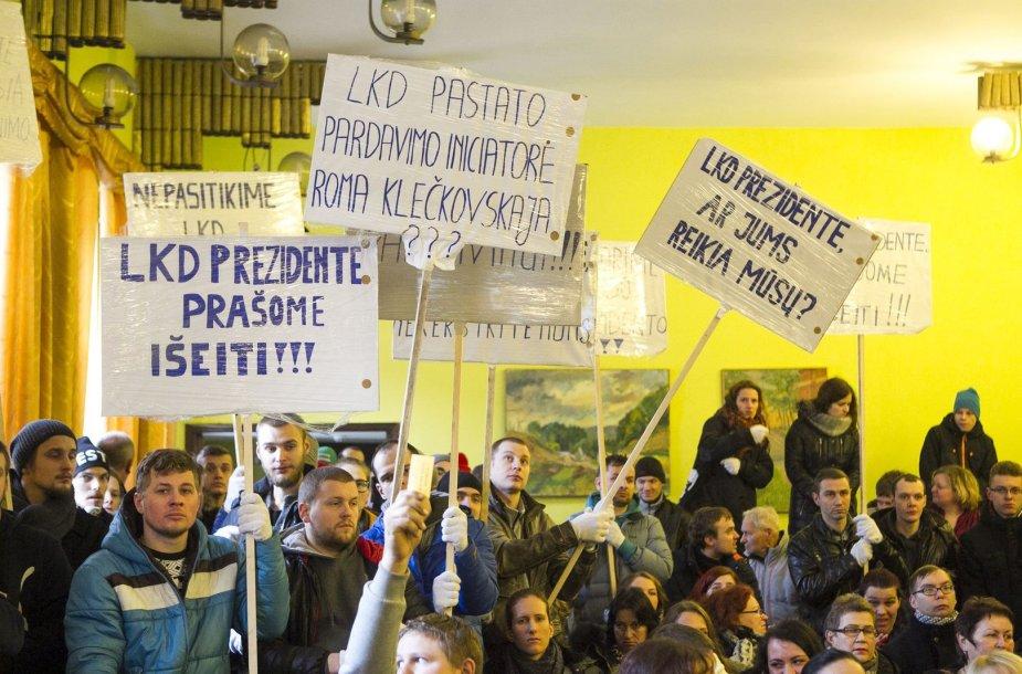 Jaunųjų Lietuvos kurčiųjų draugijos narių protestas