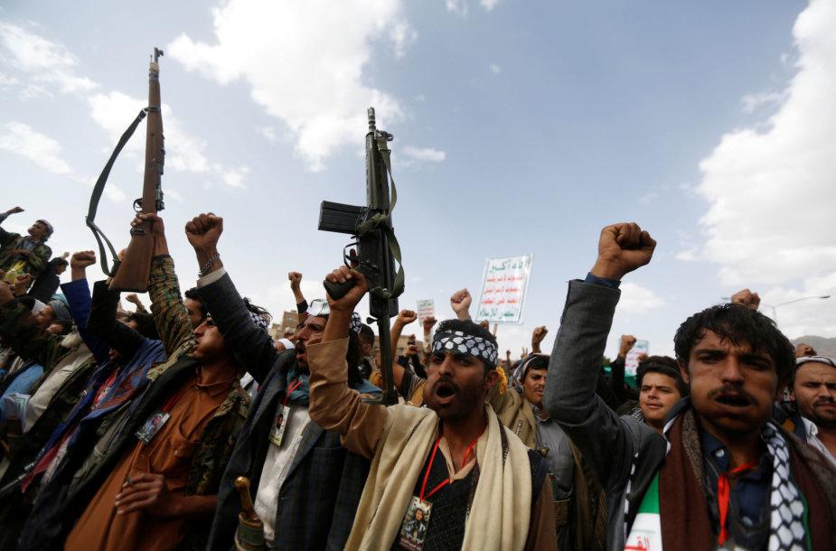 Husiai sukilėliai Jemene