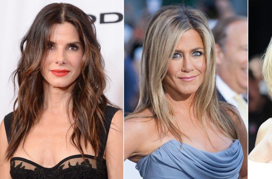 Sandra Bullock, Jennifer Aniston ir Cameron Diaz