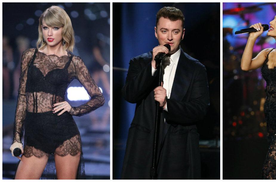 Taylor Swift, Samas Smithas ir Ariana Grande