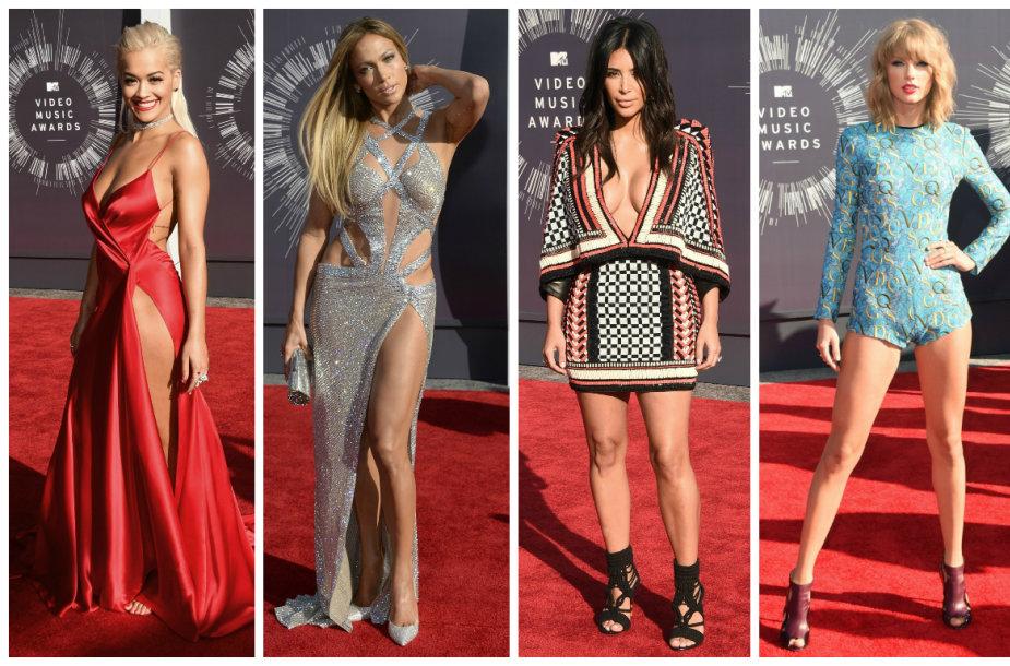 MTV vaizdo klipų apdovanojimų viešnios: Rita Ora, Jennifer Lopez, Kim Kardashian, Taylor Swift ir Amber Rose