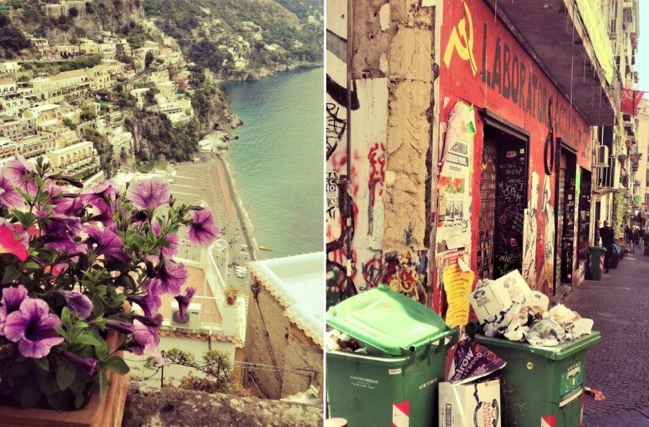 Amalfio pakrantė ir Neapolis – kaip diena ir naktis