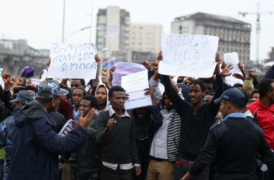 Protestas Etiopijoje