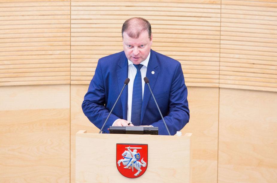 Saulius Skvernelis pristato pirmąją savo Vyriausybės darbų ataskaitą