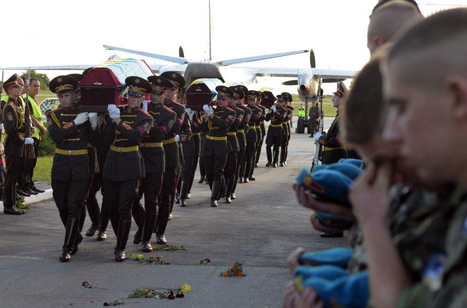 Ukrainos karių laidotuvės