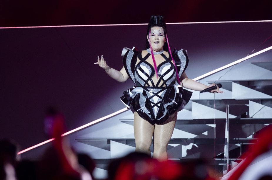 """Praėjusių metų """"Eurovizijos"""" nugalėtoja Netta Barzilai iš Islandijos"""