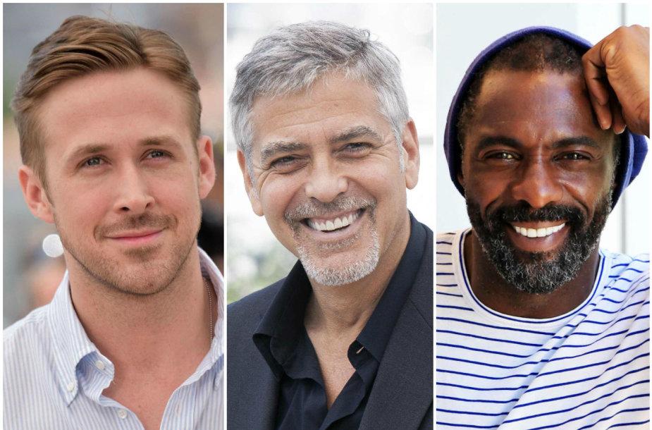 Ryanas Goslingas, George'as Clooney ir Idrisas Elba