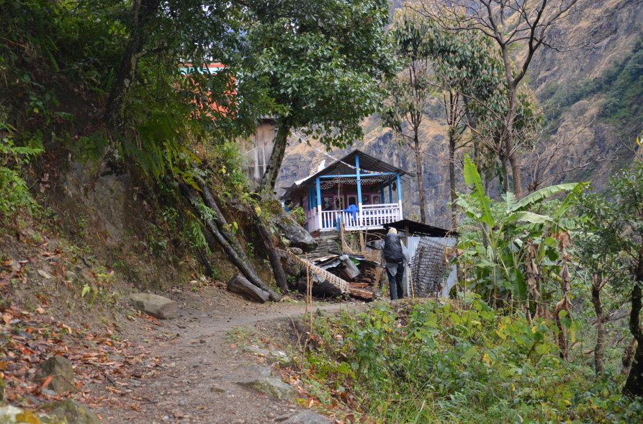 Himalajuose esantis kaimas