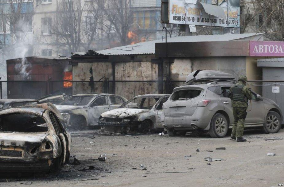 Apšaudytas Mariupolis