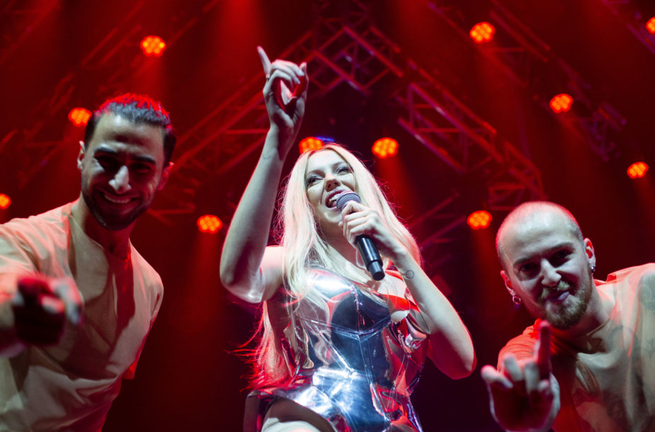 Monique koncerto Vilniuje akimirka