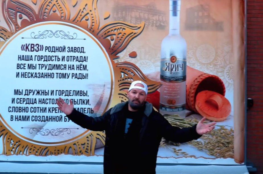 F.Durstas neseniai apsilankė degtinės gamykloje Krasnojarske.