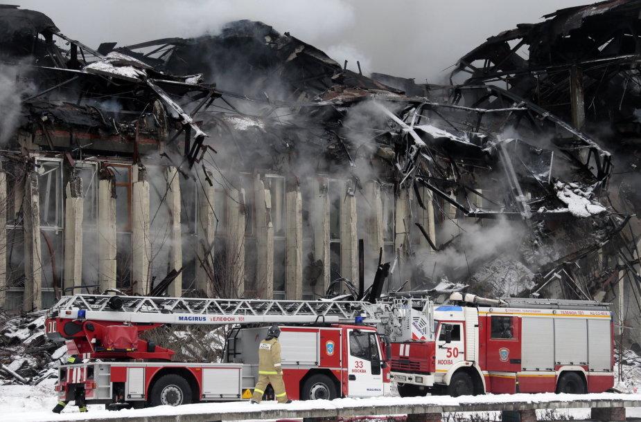 Maskvoje dega mokslinės informacijos biblioteka  2015 m. sausio 31 d.