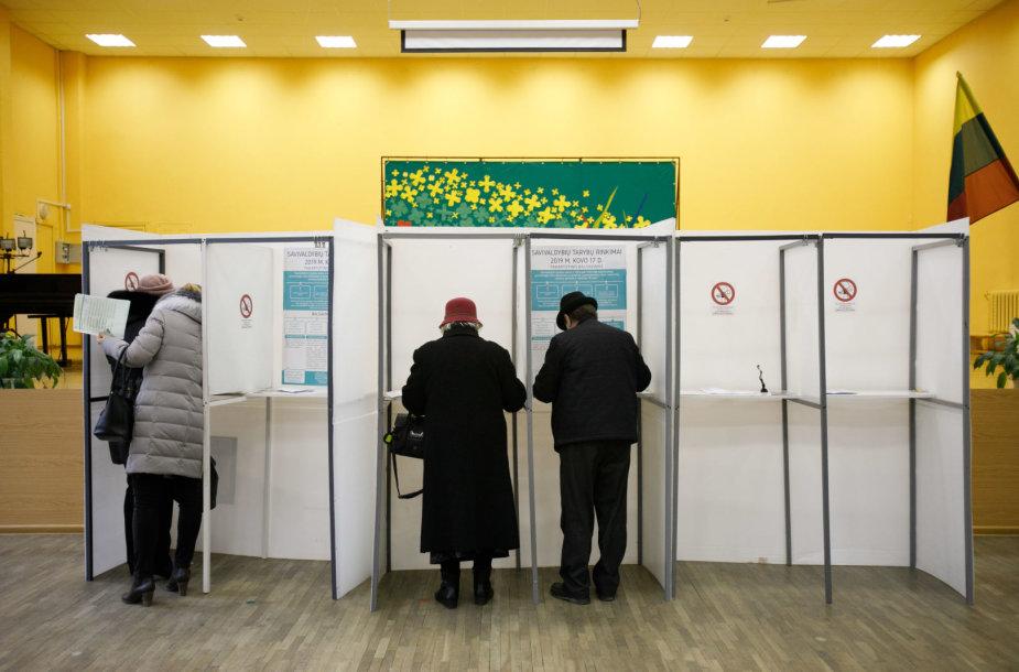 Rinkėjai Kaune