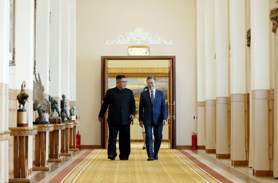 Šiaurės Korėja sutiko uždaryti raketų bandymų kompleksą