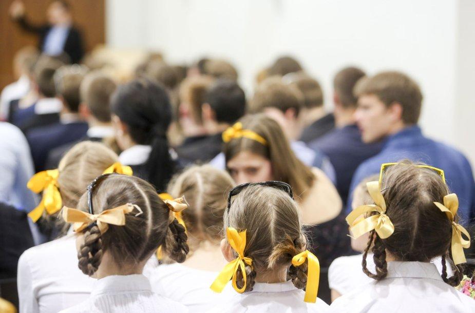 Vilniaus Mikalojaus Daukšos vidurinėje mokykloje nuaidėjo paskutinis skambutis