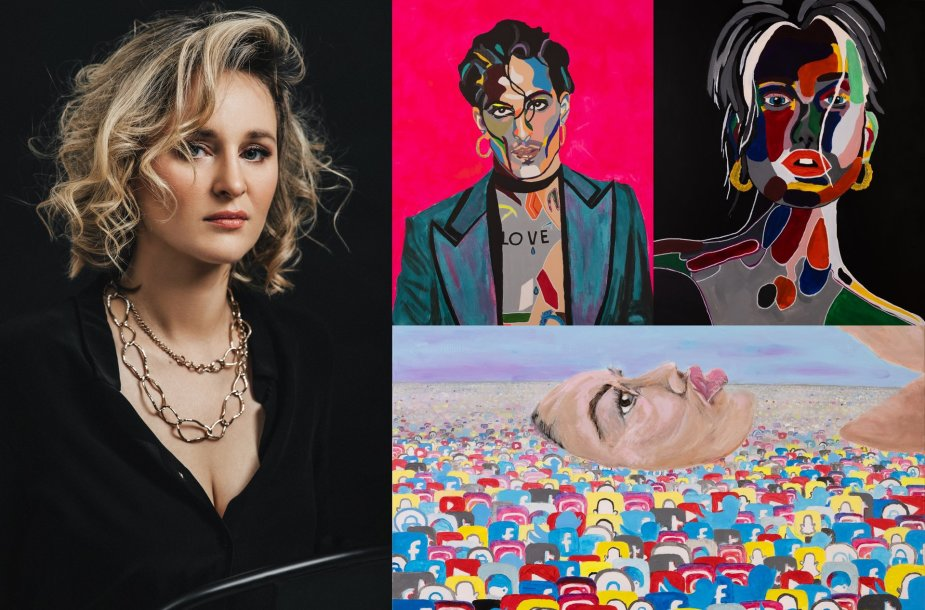 Lina Vidmantė ir jos tapybos darbai