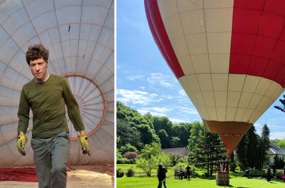 Jonas Varanka organizuoja skrydžius oro balionu