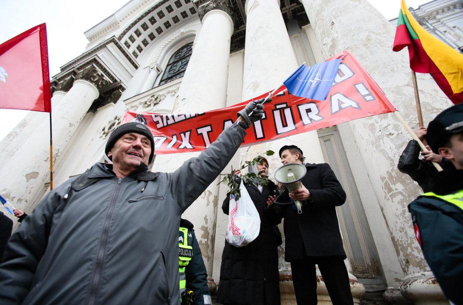 Neteisėtas nacionalistų mitingas Kaune