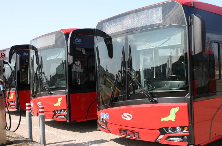 """Nauji Vilniaus autobusai """"Solaris Urbino"""""""