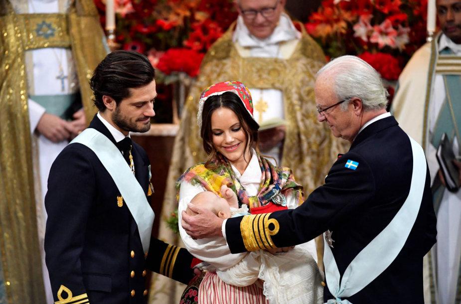 Švedijos princo Gabrielio krikštynos