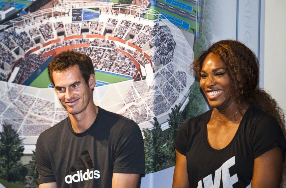 Andy Murray ir Serena Williams