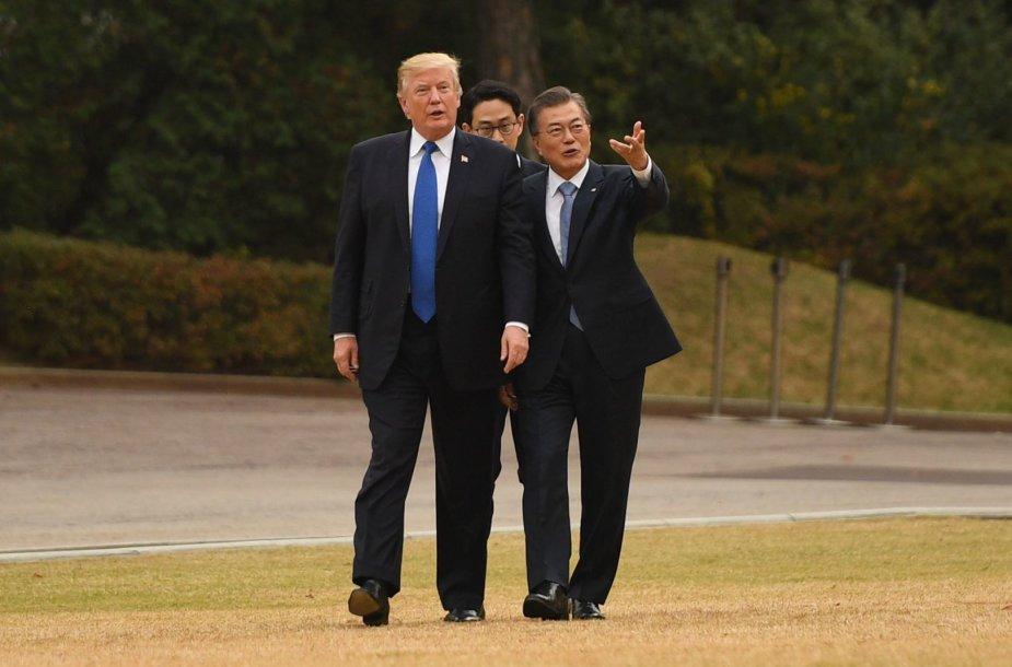 JAV prezidentas Donaldas Trumpas Seule