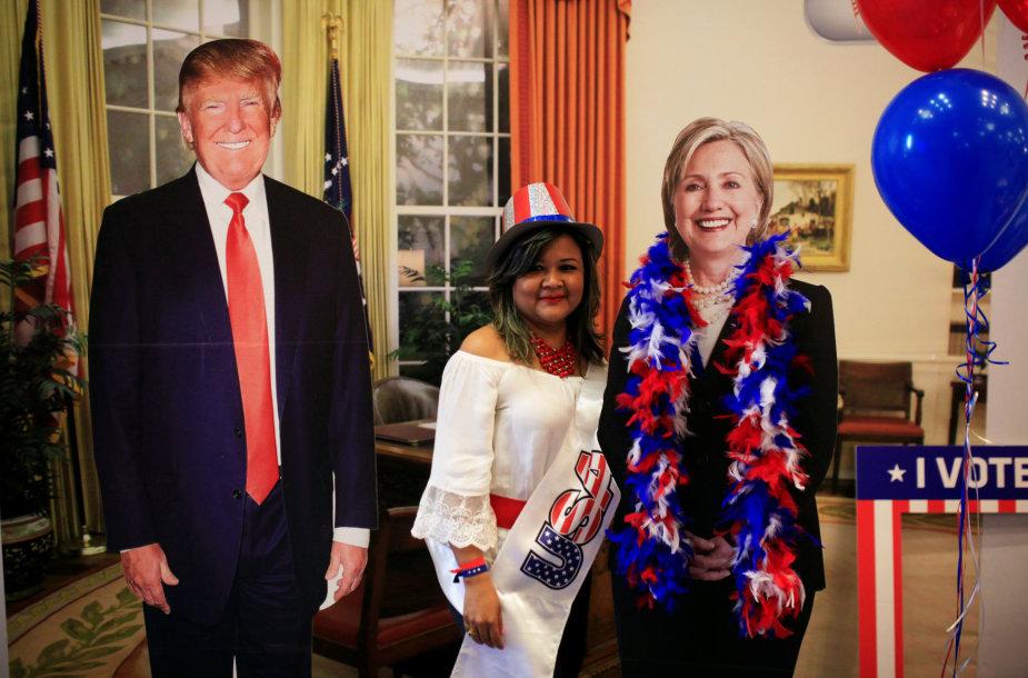 Amerikiečiai balsuoja prezidento rinkimuose