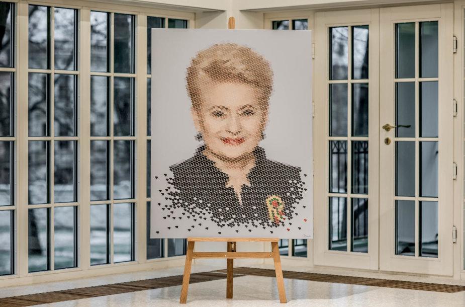 A.Mažuolės sukurtas prezidentės Dalios Grybauskaitės portretas