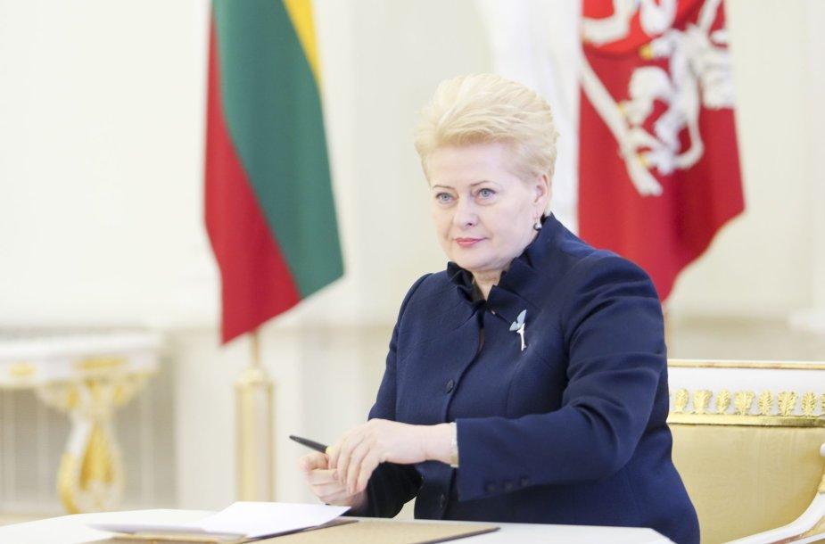 Prezidentė Dalia Grybauskaitė priimė teisėjų priesaikas