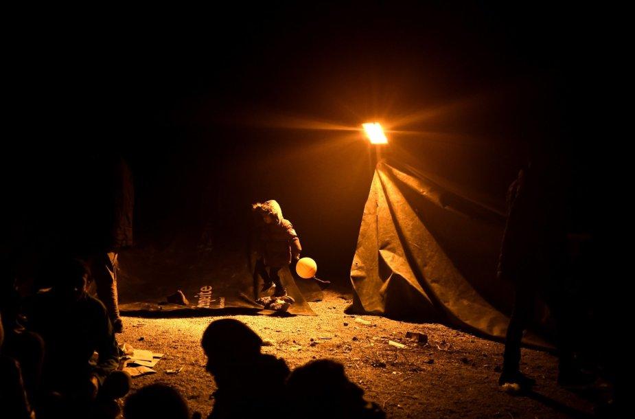 Migrantai Lesbo saloje