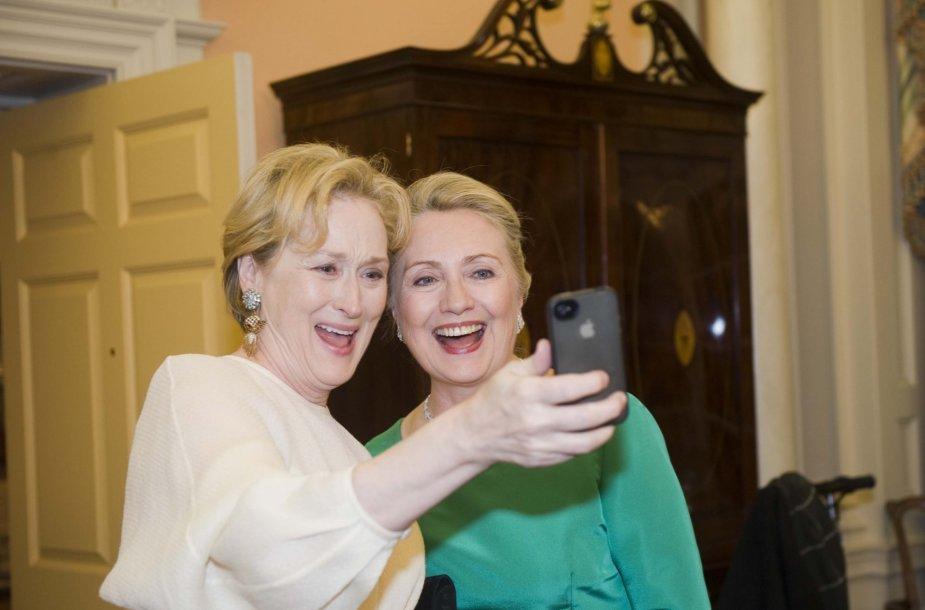 Meryl Streep ir Hillary Clinton