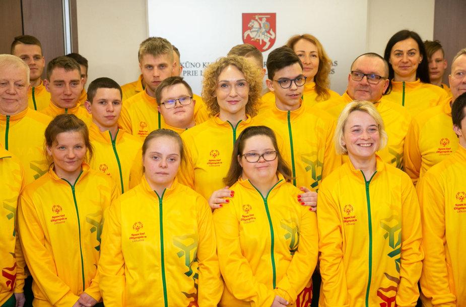 Specialioji Lietuvos komanda buvo išlydėta į žaidynes Abu Dabyje